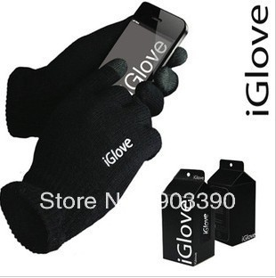 Hot selling! For Iphone touch glove 100pairs/lot IGlove Screen touch gloves with retail box Unisex Winter free shipping by DHL