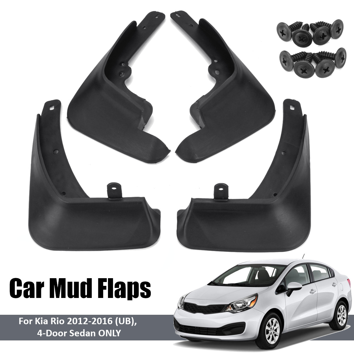 Car Mud Flaps For Kia <font><b>3</b></font> K2 UB 2012 2013 2014 2015 <font><b>2016</b></font> Fender Splash Guards Mudflaps Mudguards Mudflaps Accessories image