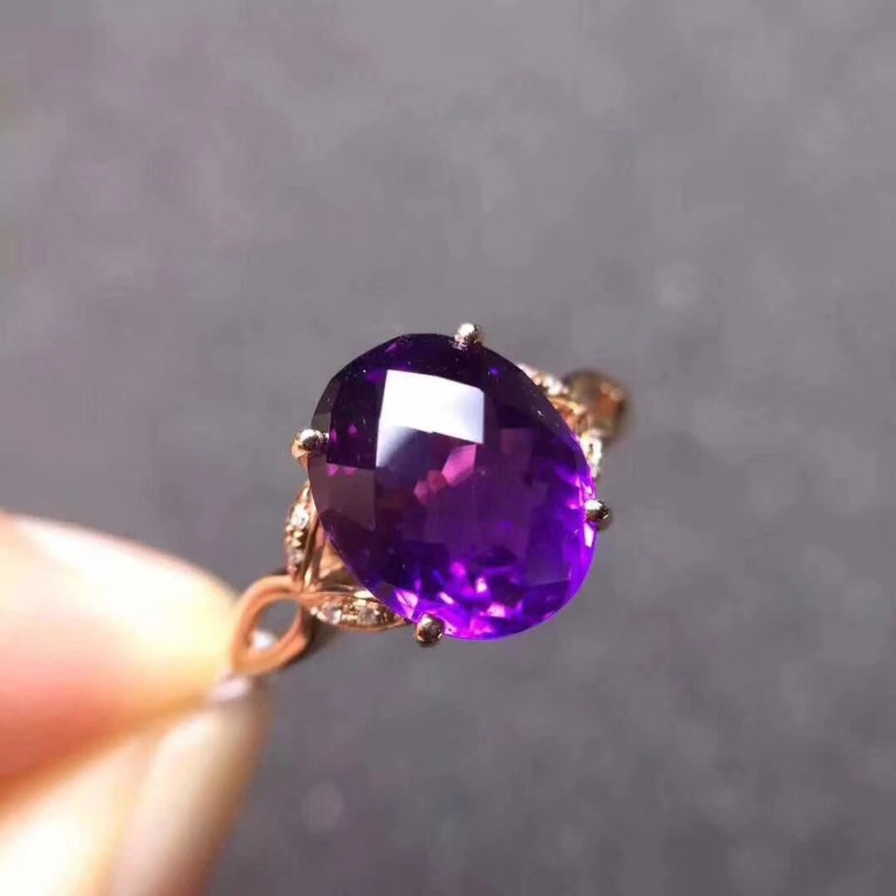 Natural real amethyst ring  925 sterling silver 8*10MM gemstone For men or women rings Fine jewelryNatural real amethyst ring  925 sterling silver 8*10MM gemstone For men or women rings Fine jewelry