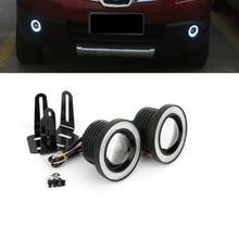 Светодиодный противотуманный фонарь в сборе, противотуманный светильник, дневной ходовой светильник с объективом COB Halo angel eyes Ring для Chevrolet Captiva Aveo