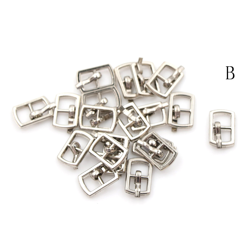 3/10PCS 4.5mm Mini Buckle DIY Patchwork Buckle For Dolls Clothing Adjustable Accessories Handmade Sewing 21