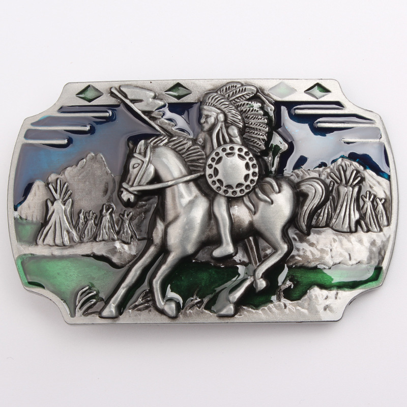 Indian Soldiers Belt Buckle 3.8 Cm General Smooth Belt Buckle Personality Big Agio