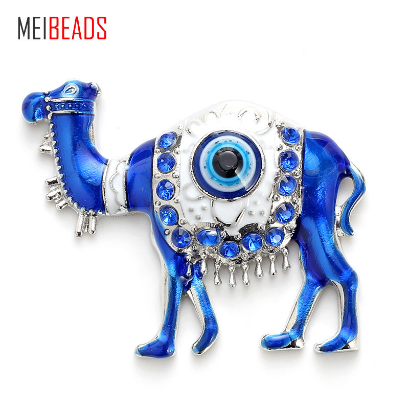 Jewelry Sets & More Energetic Meibeads Fashion Evil Eye Alloy Blue Camel Charm For Fridge Magnet & Alloy Fridge Decoration Jewelry Accessories Ey4736 Matching In Colour Jewelry & Accessories