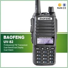 Free Shipping 5W Dual Band Baofeng UV 82 Walkie Talkie Dull PTT Headset