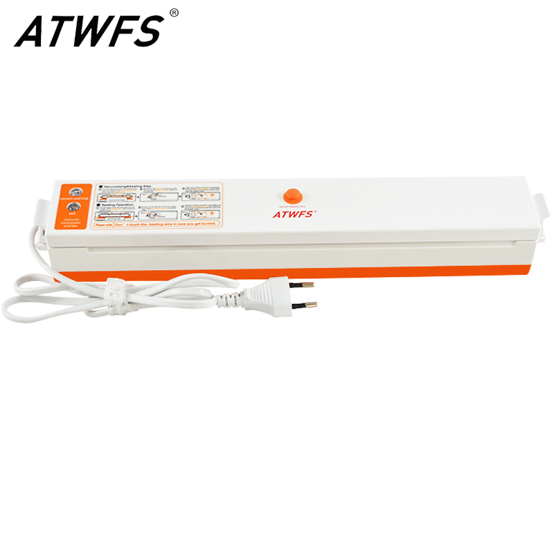 ATWFS вакуумный упаковщик для хранения продуктов, вакуумная упаковочная машина с 15 вакуумными пакетами для сохранения продуктов, кухонных приборов