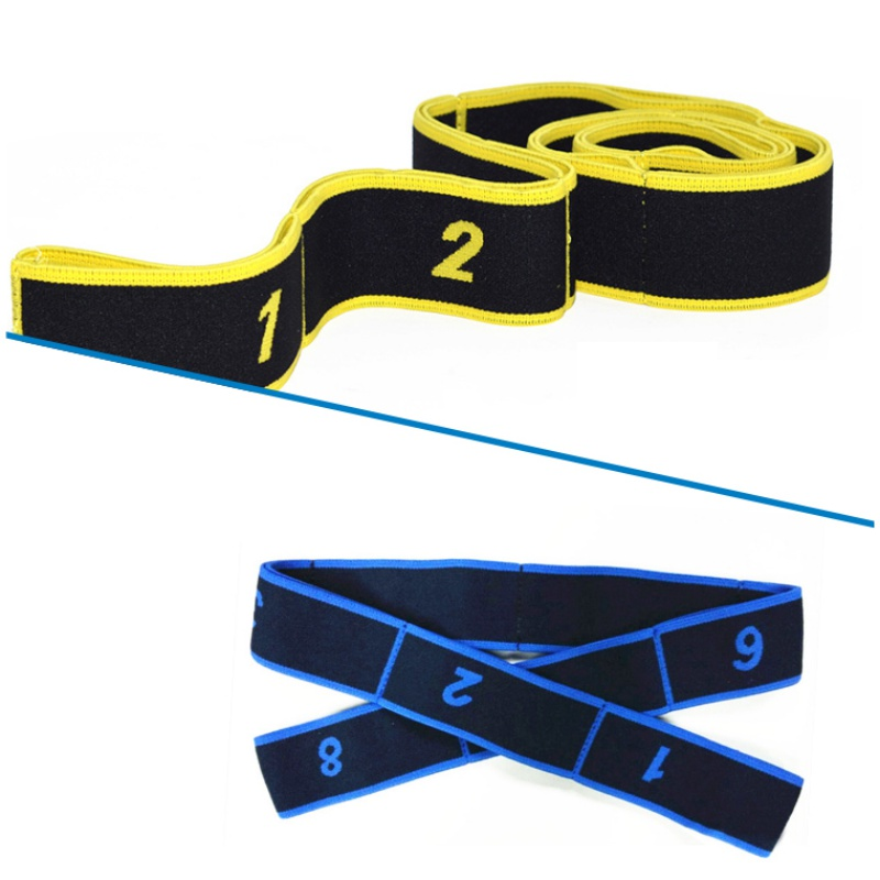 Hot Sale Resistance Bands Yoga Stretch Latin Training Fitness Elastic Bands for Adult Crossfit dance band rope yoga tools ST in Resistance Bands from Sports Entertainment
