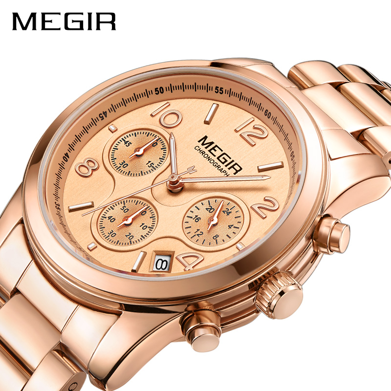 MEGIR Luxury Quartz Women Watches Relogio Feminino Fashion Sport Ladies Lovers Watch Clock Top Brand Chronograph Wristwatch 2057 цены онлайн