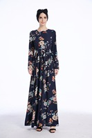 MZ Garment Woman Long Sleeve Abaya Islamic Female Muslim Apparel Ladies Kaftan Long Women S Turkish