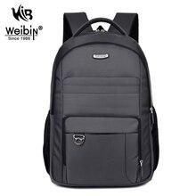 Weibin Men s Backpack Men Business Backpacks Nylon Waterproof School Backpacks for Teenager Large Capacity 15