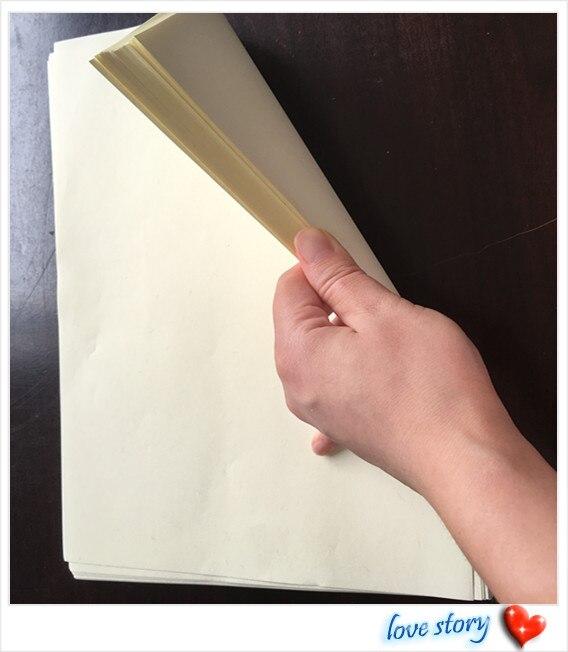 100 Pcs ,A4(216*279mm) ,85g 75% Cotton 25% Linen Paper, Ivory Color