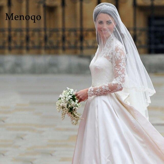 Wedding Gown Veil: Aliexpress.com : Buy Hot Sell Bridal Veil Lace Edge