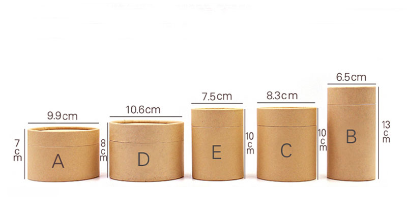 Paper-Tube Wrapping-Packaging Kraft 20pcs/Lot Oil-Painting-Cylinder Coffee Wholesale