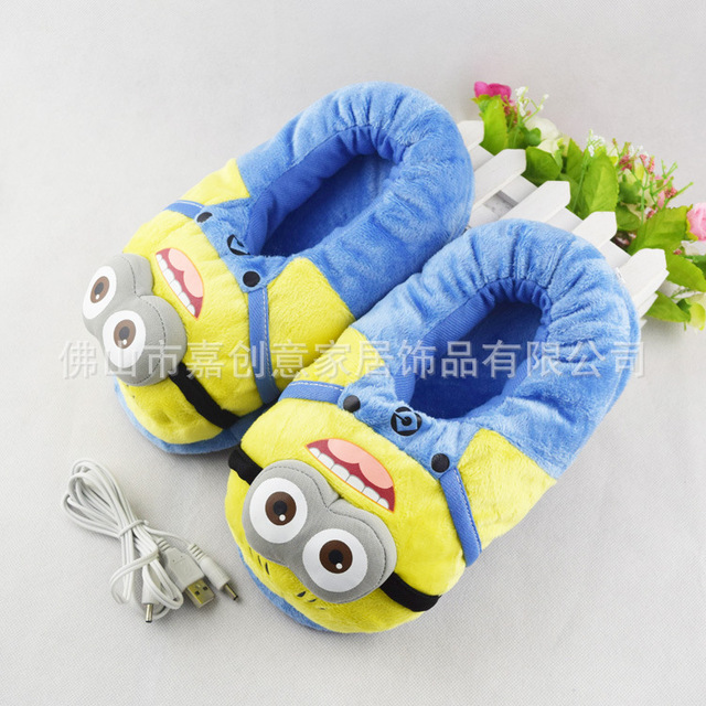 Totoro Cotton Detachable USB Electric Heating Shoes