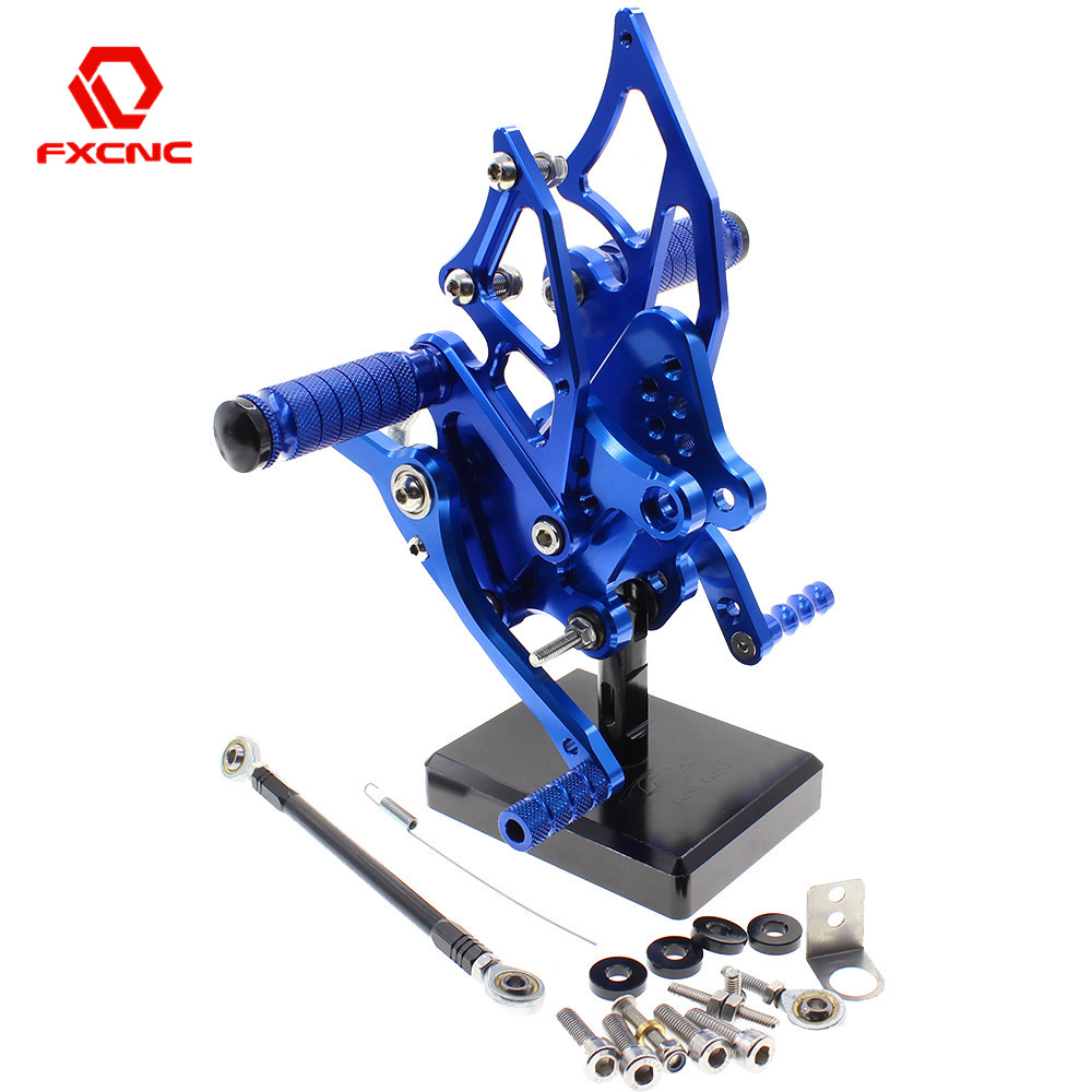 FOR YAMAHA YZF R3 MT03 14/19 Aluminum Adjustable Motorcycle Rearsets Rear Sets Foot Pegs Pedal Footrest