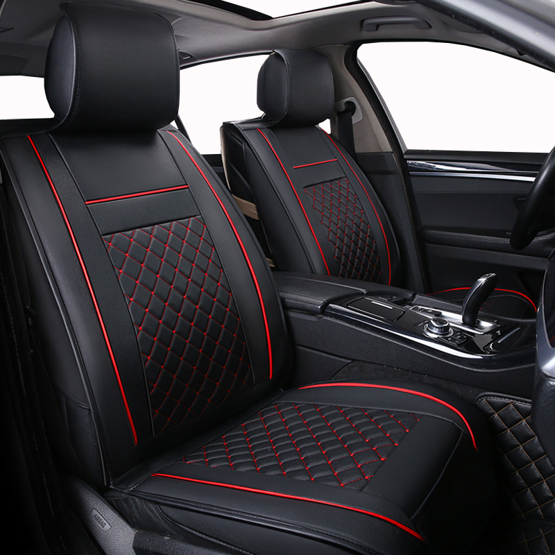 Only Front Leather Universal Car seat cover For <font><b>Audi</b></font> a3 8p 8v sedan <font><b>sportback</b></font> a4 b5 b6 b7 <font><b>b8</b></font> <font><b>a5</b></font> of 2010 2009 2008 2007 image