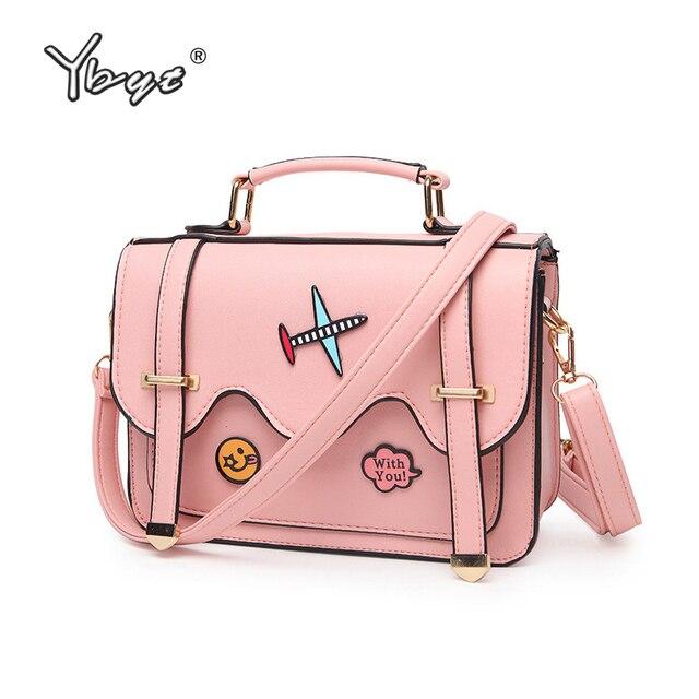 9bed2d55bf YBYT brand 2017 new cartoon cute girl handbags preppy style ladies shopping  bag satchel small shoulder messenger crossbody bags