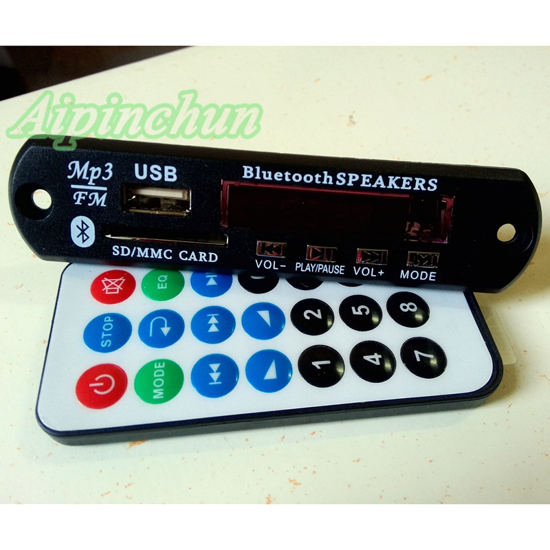 Mp3-player Aipinchun Hohe Qualität 7 V-12 V Bluetooth Mp3 Decodierung Bord Sd-kartensteckplatz Modul Unterstützung Flac/wav/wma/mp3 Decoder Kit Format Fm