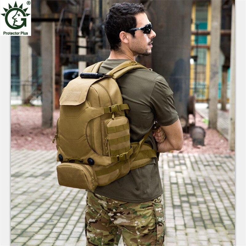 Mannen Militaire Rugzak Hoge Kwaliteit Waterdichte Nylon Vrouwen Laptop Terug Tas Camouflage Multifunctionele Mannen Reizen Rugzak 2019