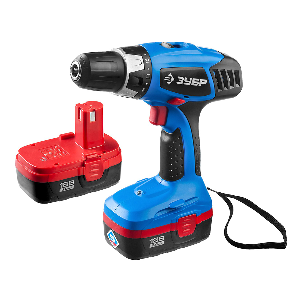 Drill driver rechargeable ZUBR ZDA-18-2 kin20
