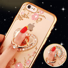 Luxury Glitter Rhinestone Holder Case Bling Perfume Love Heart Clear Soft Phone Cases For iPhone 5 5s 6 6s 6Plus 7 8Plus X XS XR(China)