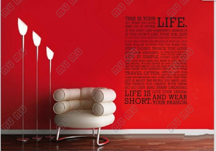 This is your life do what you love wall stickers home for Life is good home decor