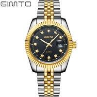 2016 Top Brand GIMTO Luxury Gold Watches Men Reloj Hombre Men Clock Analog Date Men S