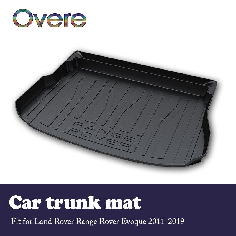 Overe 1Set Car Cargo rear trunk mat For Land Rover Evoque 2011 2012 2013 2014 2015