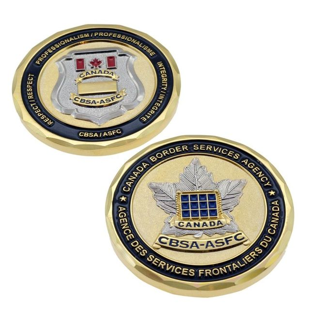 US $280 0 |CBSA Canada Border Services Customs Badge 3D Maple Leaf Police  Challenge Coin-in Non-currency Coins from Home & Garden on Aliexpress com |