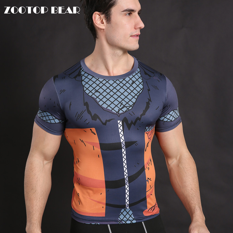 Naruto T-shirt Armor Compression Shirt Men Anime T Shirt Fitness Bodybuilding Tops Crossfit Tees Cosplay Camisetas ZOOTOP BEAR