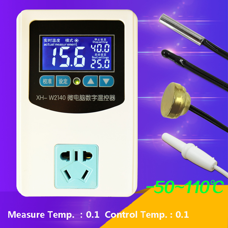 цена на Microcomputer Digital Thermostat AC220V LCD display Temperature Controller for Heater or Cooler Intelligent Thermostatic Switch