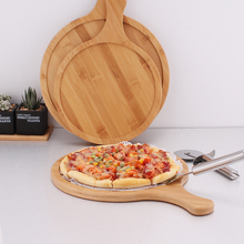 Pizza Baking Tray Stone Cutting Board Platter Bamboo Wooden board Round with Hand Cake Bakeware Tools 6-13inch