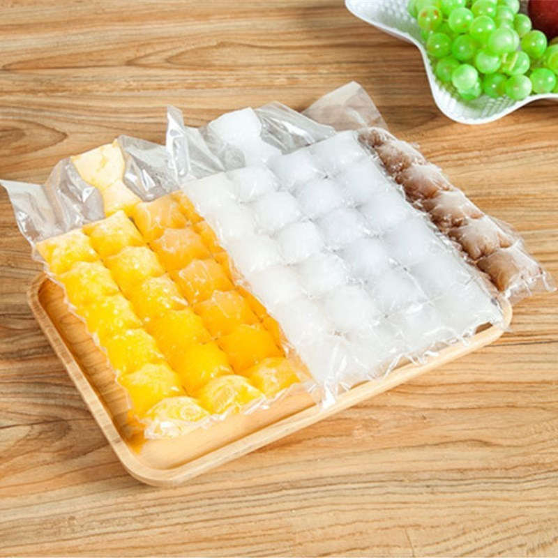 New 10pcs/pack Disposable Ice Pack Self-sealing Frozen Ice Cubes Mould Ice Cream Mold Form Shape Frozen Party Supplies Kicthen
