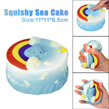 11CM Sea Cake Cream Squeeze Toy Squishy Slow Rising Decompression Squeeze Toys Birthday Gifts Stress Relief Reliever
