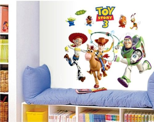 Hot Sale Toy Story 3 Cartoon Wall Stickers Removable PVC