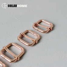 20pcs Metal belt buckle tri-glides roller 3/4 20mm rose gold positive locking and release adjustment buckles strong hardware