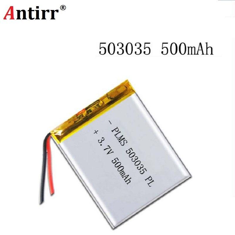 Darmowa wysyłka polimerowa bateria 500 mah 3.7 V 503035 inteligentne domowe głośniki MP3 akumulator litowo-jonowy do dvr GPS mp3 mp4 głośnik do telefonu komórkowego