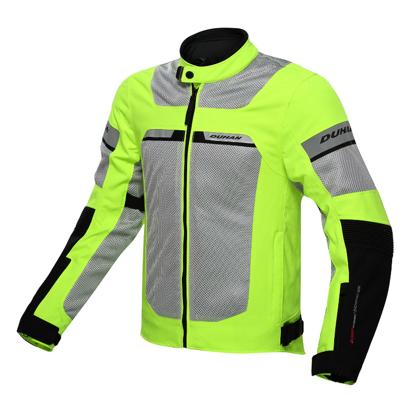 NEW MOTORCYCLE RACING  MESH BREATHABLE JACKET D133  BIKERS JACKET AIR FLOW  W/ WP LINING top good motorcycles mesh fabric jacket summer wear breathable hard protective overalls motorcycle clothing wy f607 green