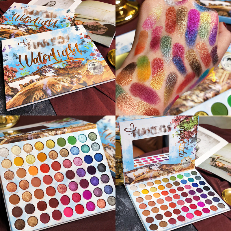 Paleta Da Sombra de maquiagem 63 Cor do Verão Coleção Matte Shimmer Glitter Pigmento Paleta Da Sombra de Olho Cosméticos