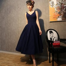 Vintage 1950 s Style Navy Black Short Prom font b Dresses b font For font b