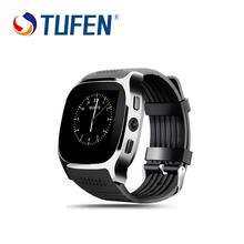 TUFEN T8 Bluetooth Smart Watch With Sim Card Slot 2.0 MP Camera Clock MTK6261D 380mha Battery For Android Smartwatch