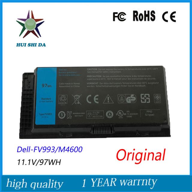 11.1 V 97WH Original Novo Bateria Do Portátil para Dell M4600 M6600 FV993 PG6RC R7PND 0TN1K5DP TN1K5