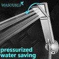 O envio gratuito de economia de água do chuveiro oxygenics cabeça pressurizar impulso quadrado chuveiro de mão do banheiro cromado em plástico abs chapeado