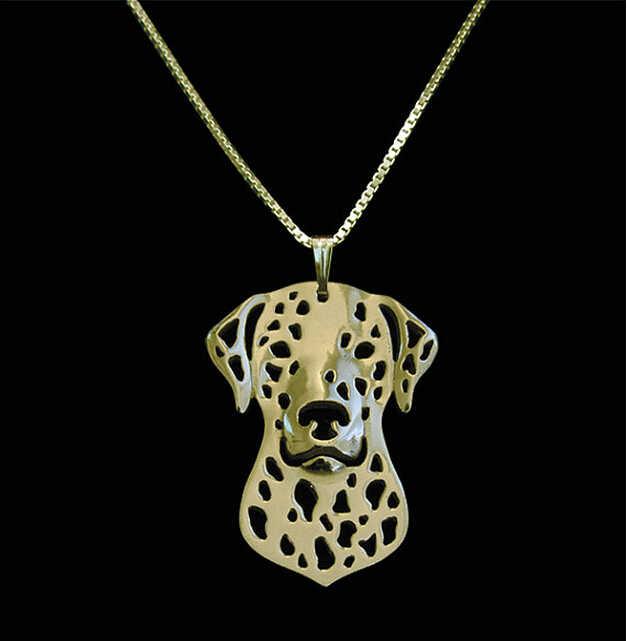 DANGGAO fashion najnowsze unikalne ręcznie dalmacji wisiorek choker naszyjnik dla kobiet śliczne wisiorek dla psa biżuteria miłośników zwierząt prezent