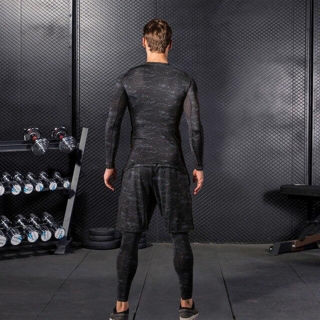 Compression Tracksuits Running Set Men's Sport Suits  2