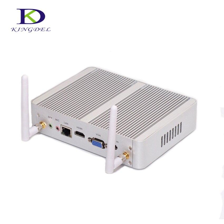 Fanless barebone mini PC Celeron N3150 Quad Core 4 USB 3 0 HDMI LAN VGA 300M