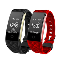 S2 Smart Bracelet Band Heart Rate Monitor IP67 Sport Fitness Tracker Wristband For Android IOS Phone