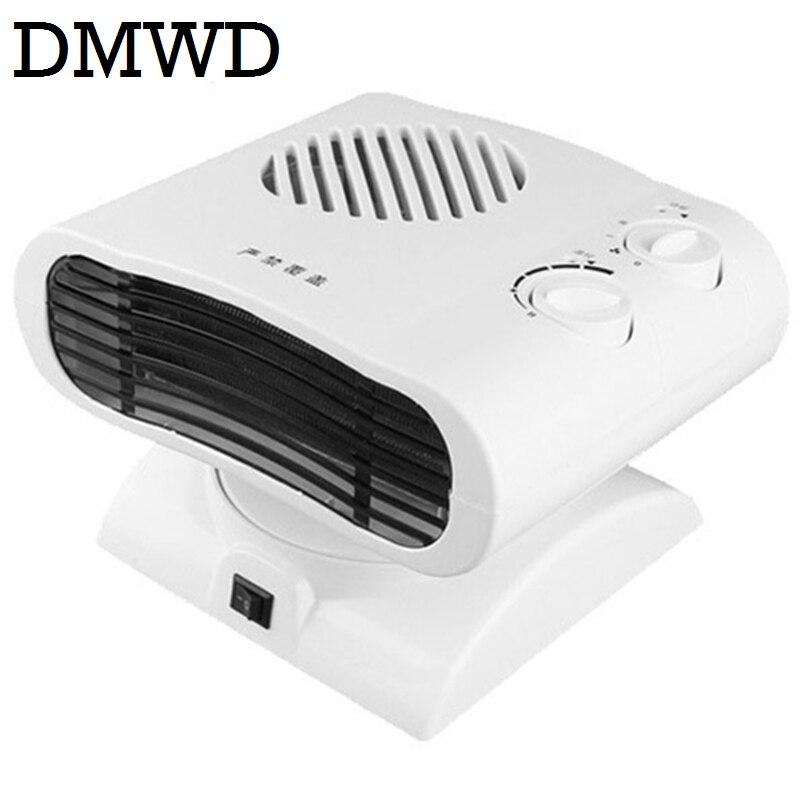 DMWD Cool & Warm Air Blower Heater Electric winter warmer Mini desktop thermal Fan headshake Radiator heating ventilation EU US