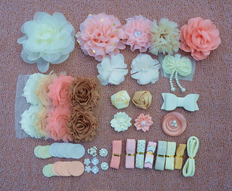 DIY Stirnband Kit Baby Dusche Stirnband Kit Geburtstag Party DIY Haar Set Haar Zubehör Stirnbänder, Der Kit DIY Stirnbänder