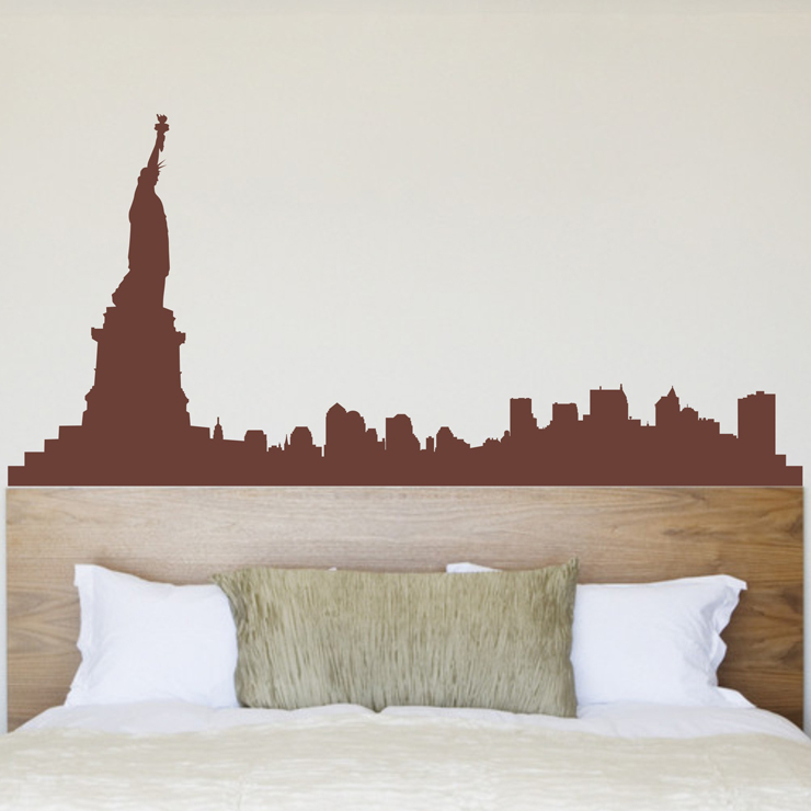 Free Shipping Wholesale And Retail New York City Wall Stickers Wall