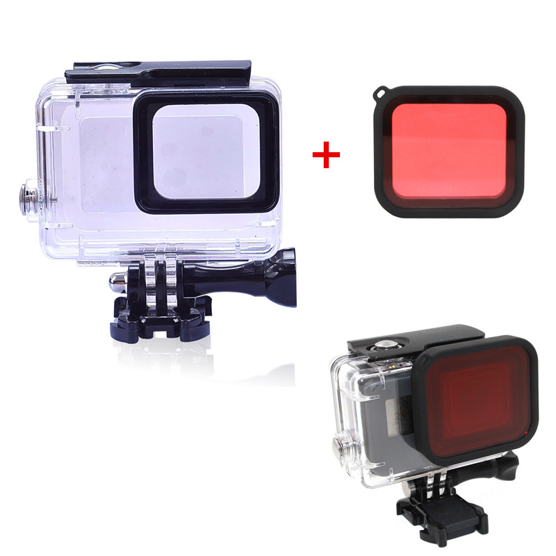 For Gopro Hero6 5 Accessories 30m Waterproof Housing Underwater Diving Case + Red Filter For Gopro Hero 6 5 Camera Mount for gopro hero6 5 accessories 30m waterproof housing underwater diving case red filter for gopro hero 6 5 camera mount